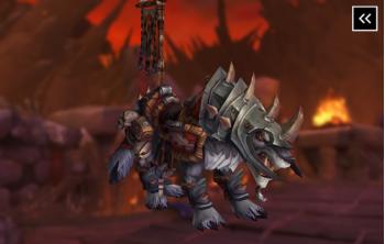 Vicious War Wolf Mount